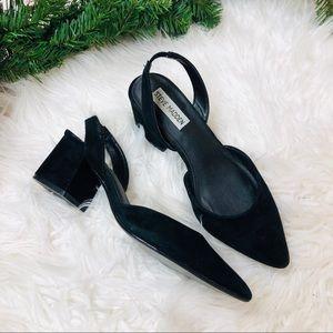 Steve Madden black slingback block heels